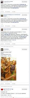 Une petite partie des partages sur Amina dans facebook