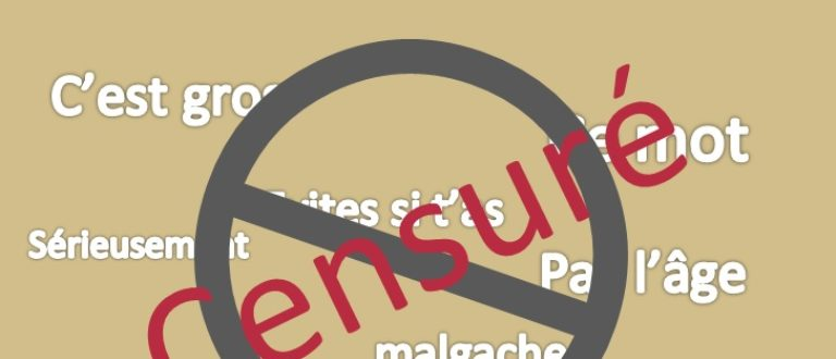 Article : Top 7 : Ces noms sont des gros mots malgaches, interdit aux -16